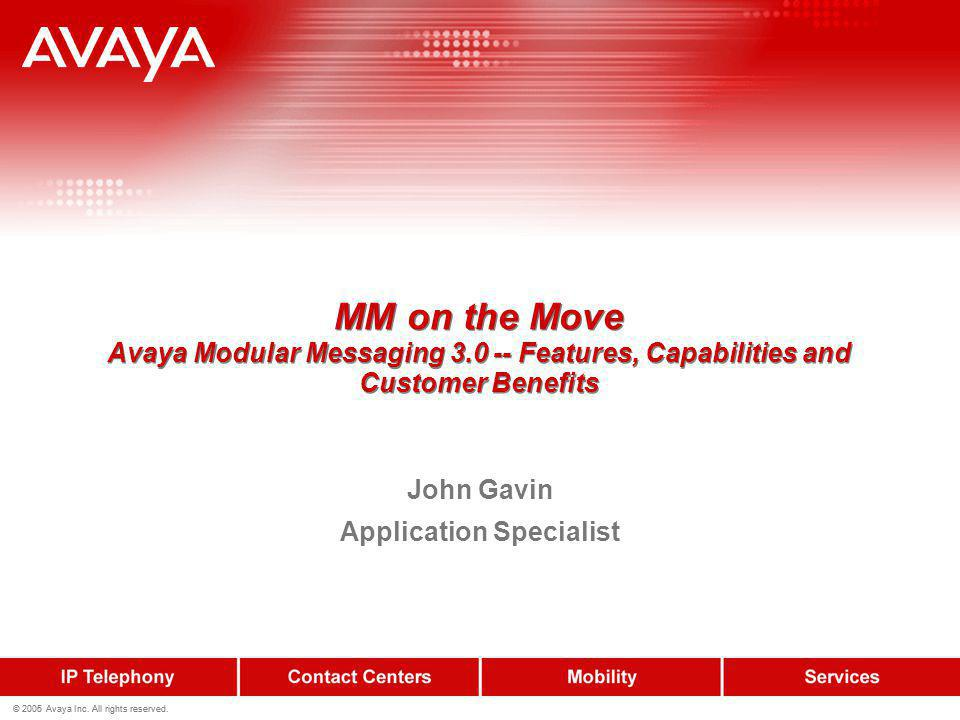 John Gavin Application Specialist
