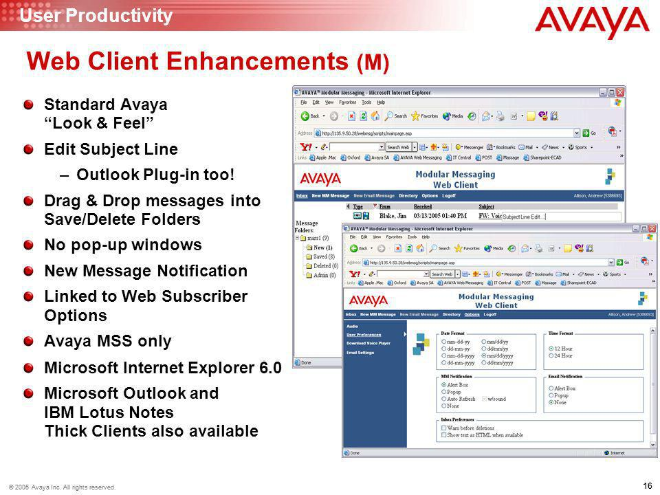 Web Client Enhancements (M)