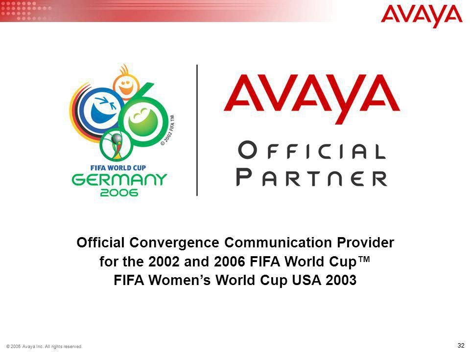 Official Convergence Communication Provider for the 2002 and 2006 FIFA World Cup™ FIFA Women's World Cup USA 2003