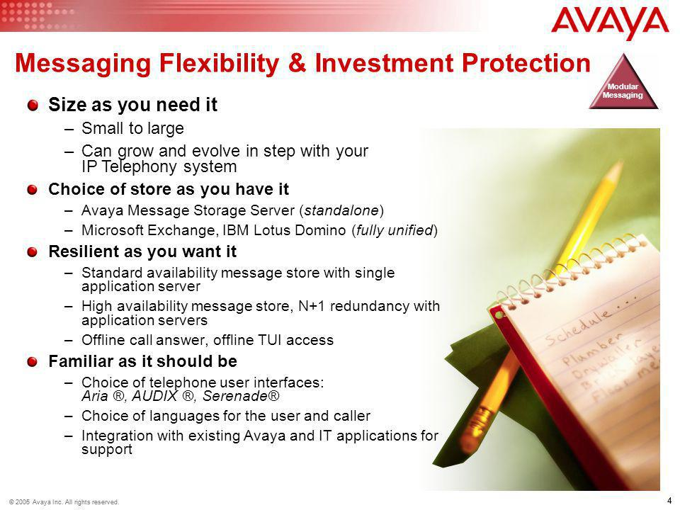 Messaging Flexibility & Investment Protection