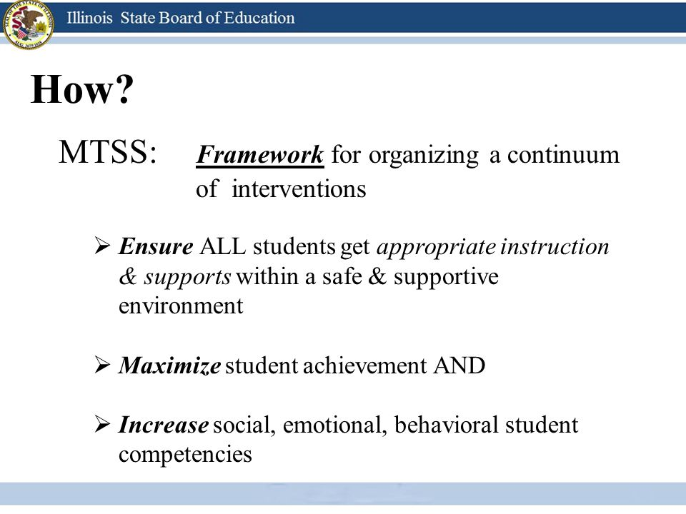 How MTSS: Framework for organizing a continuum of interventions
