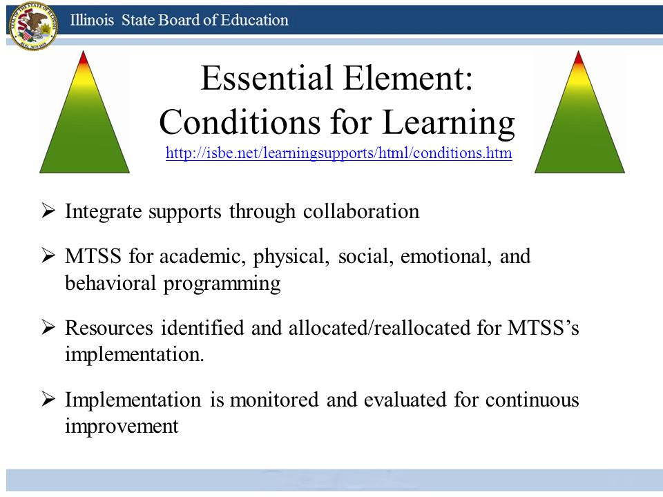 Essential Element: Conditions for Learning http://isbe