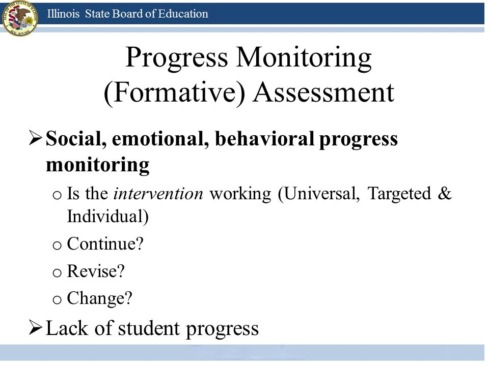 Progress Monitoring (Formative) Assessment