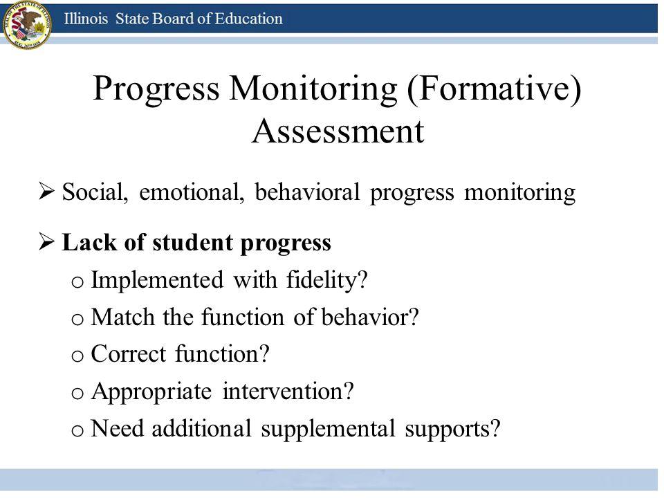 Progress Monitoring (Formative) Assessment