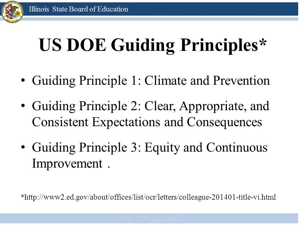 US DOE Guiding Principles*