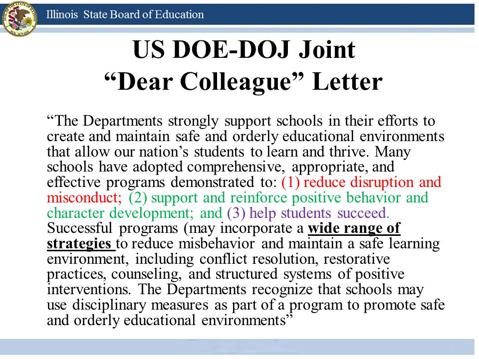 US DOE-DOJ Joint Dear Colleague Letter