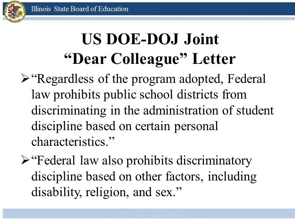 US DOE-DOJ Joint Dear Colleague Letter