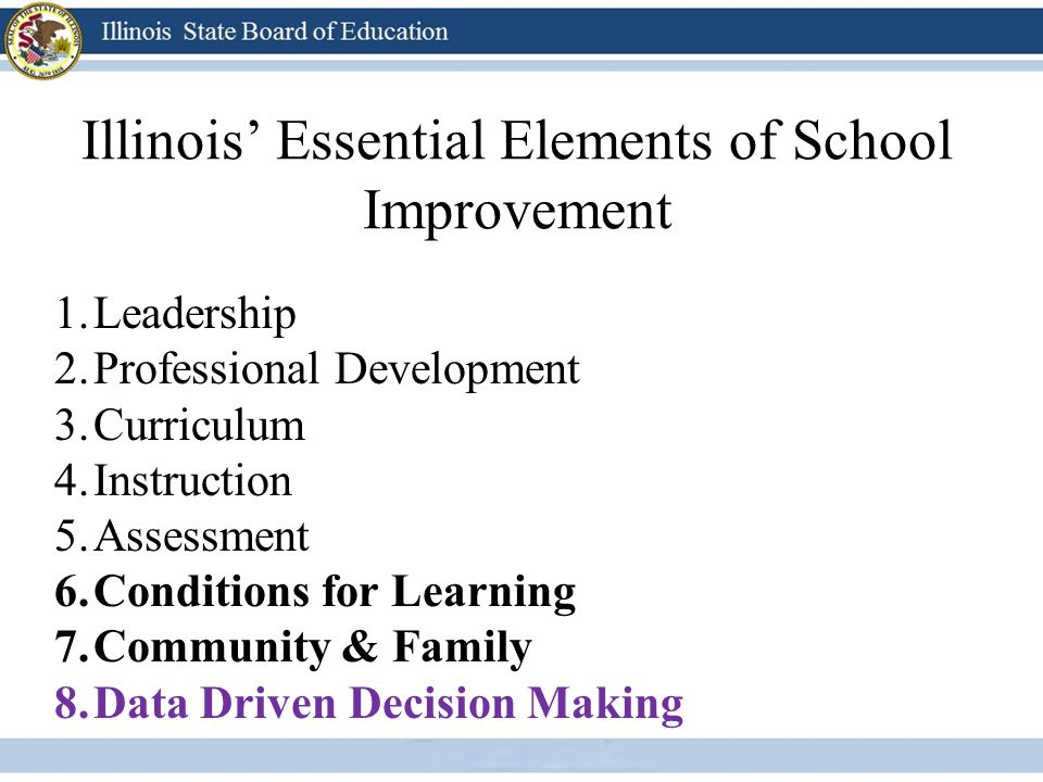 Illinois' Essential Elements of School Improvement