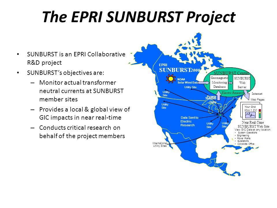 The EPRI SUNBURST Project