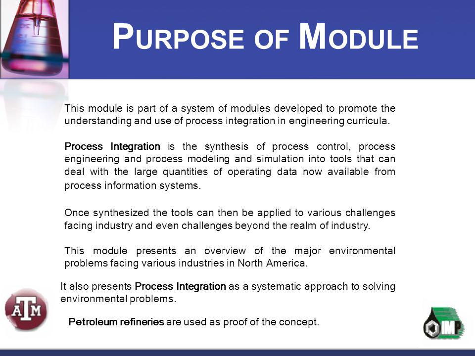 PURPOSE OF MODULE