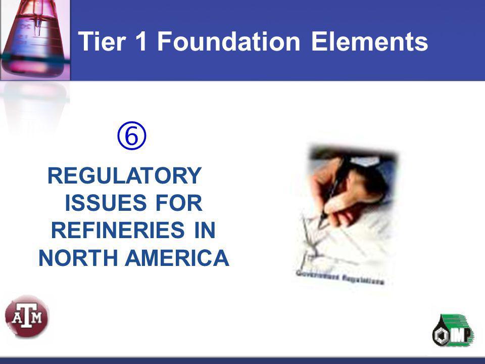 REGULATORY ISSUES FOR REFINERIES IN NORTH AMERICA