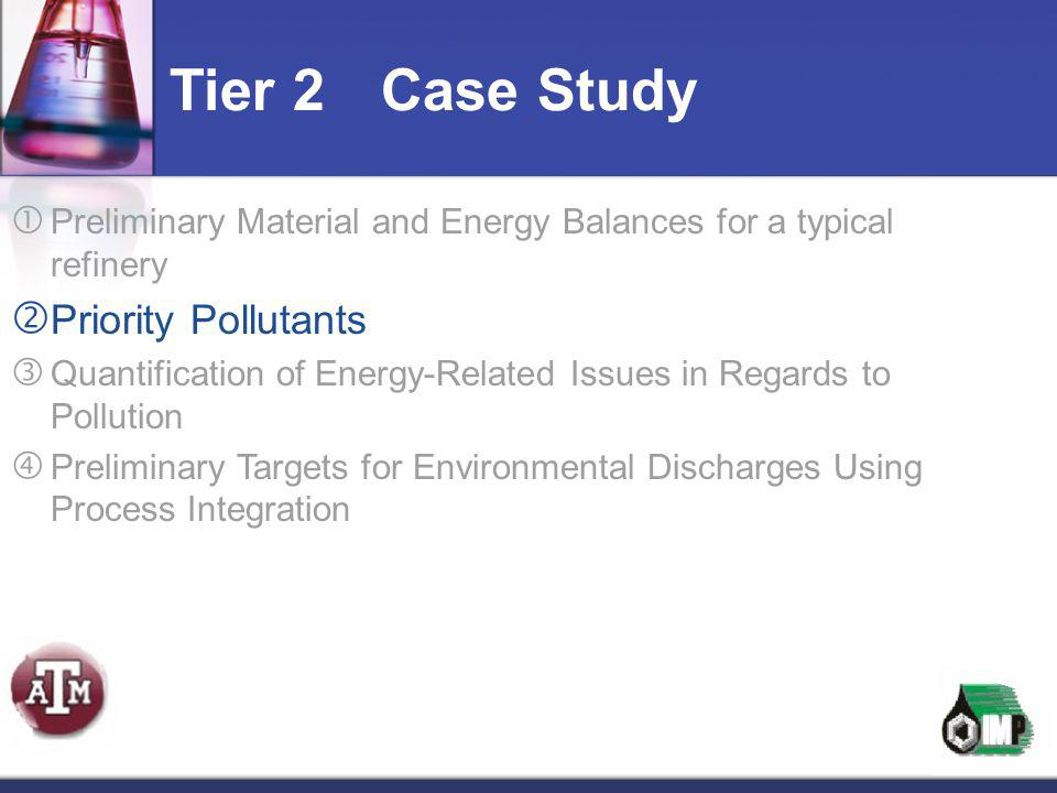 Tier 2 Case Study Priority Pollutants