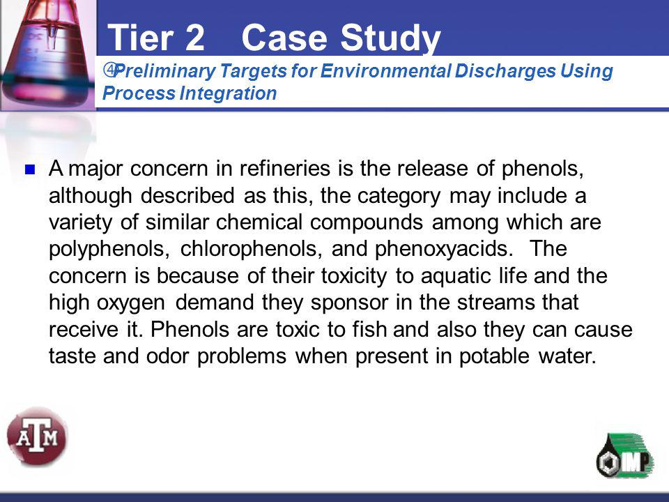 Tier 2 Case Study Preliminary Targets for Environmental Discharges Using Process Integration.