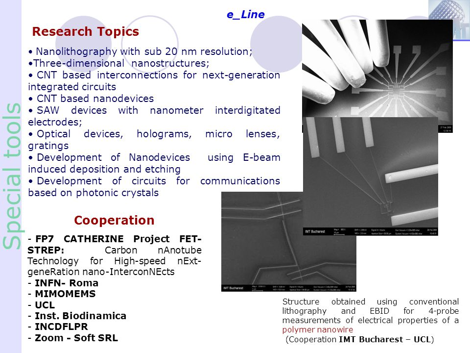 Special tools Research Topics Cooperation e_Line