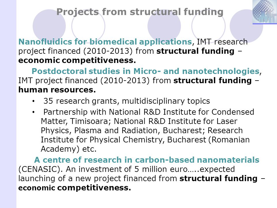 Projects from structural funding