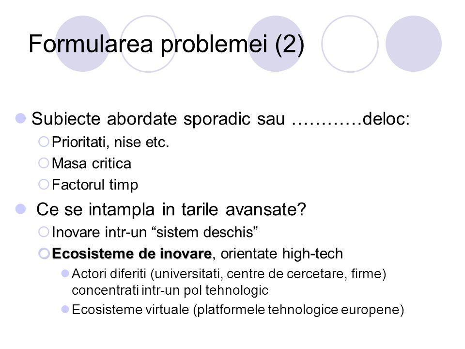 Formularea problemei (2)