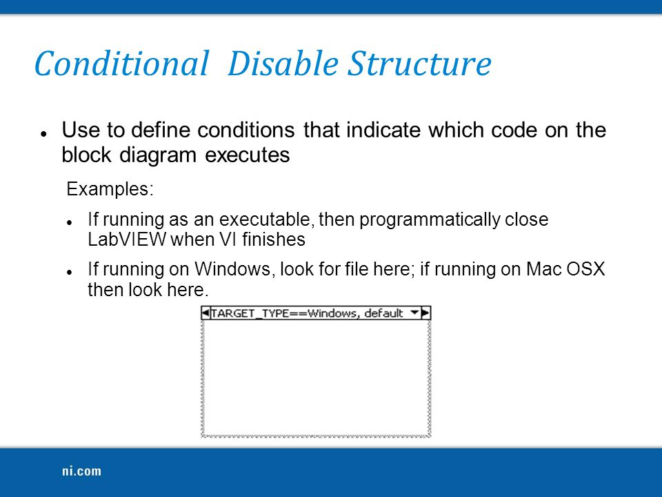 Conditional Disable Structure