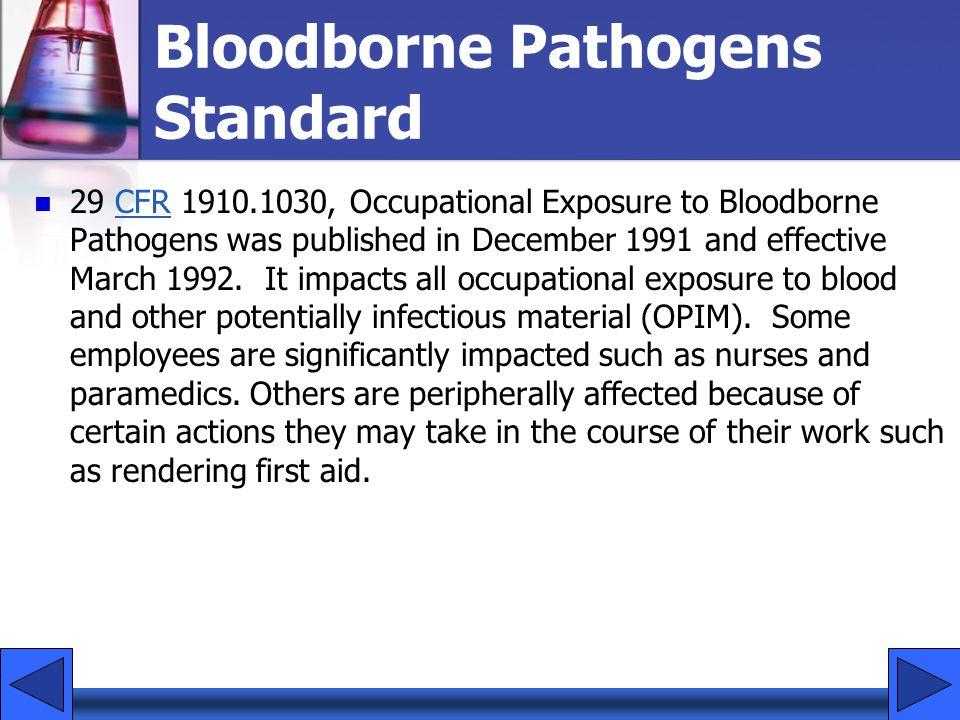 Bloodborne Pathogens Standard