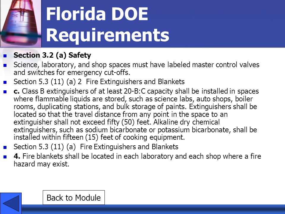 Florida DOE Requirements