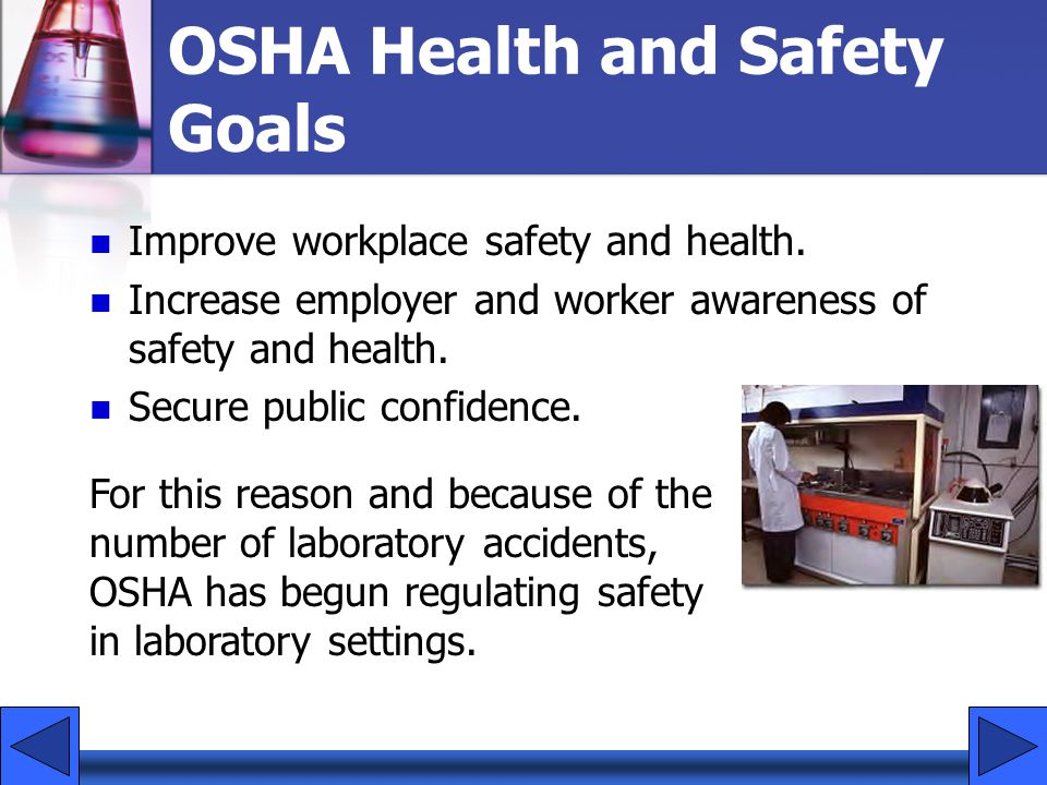 OSHA Health and Safety Goals