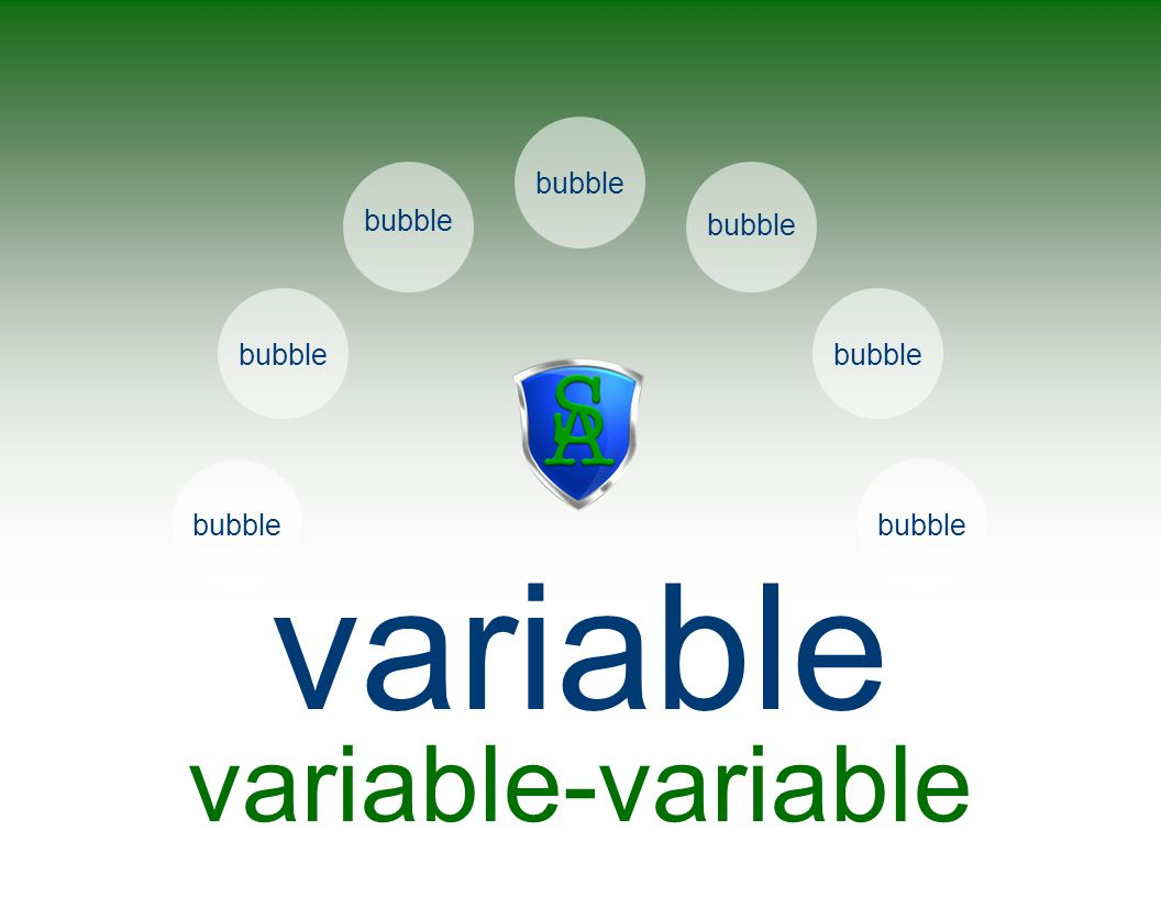 variable callout variable-variable bubble bubble bubble bubble bubble