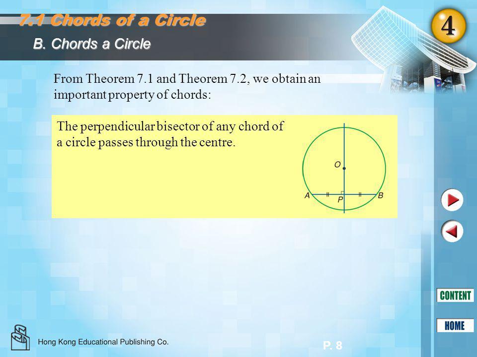 7.1 Chords of a Circle B. Chords a Circle