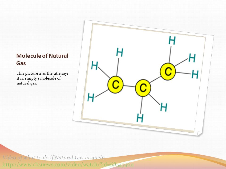Molecule of Natural Gas