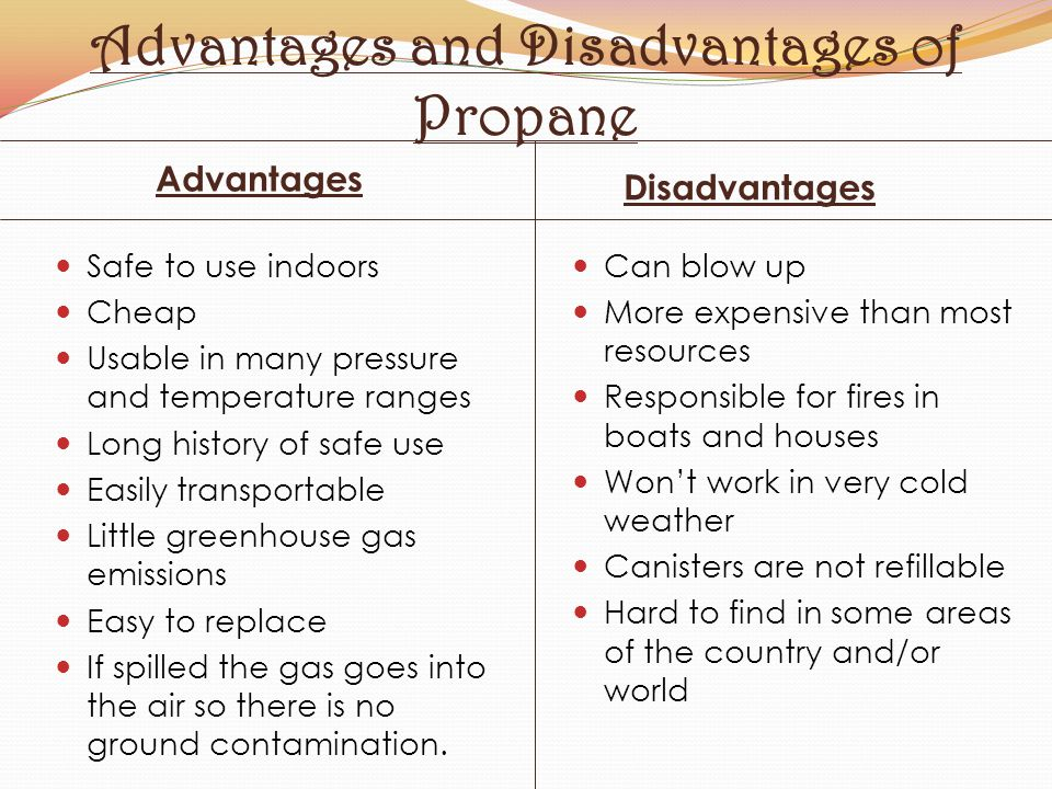 Advantages and Disadvantages of Propane
