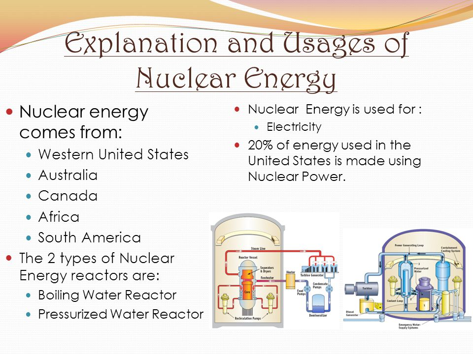 Explanation and Usages of Nuclear Energy
