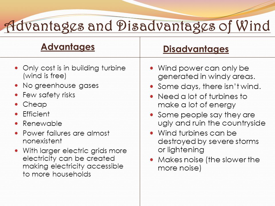 Advantages and Disadvantages of Wind