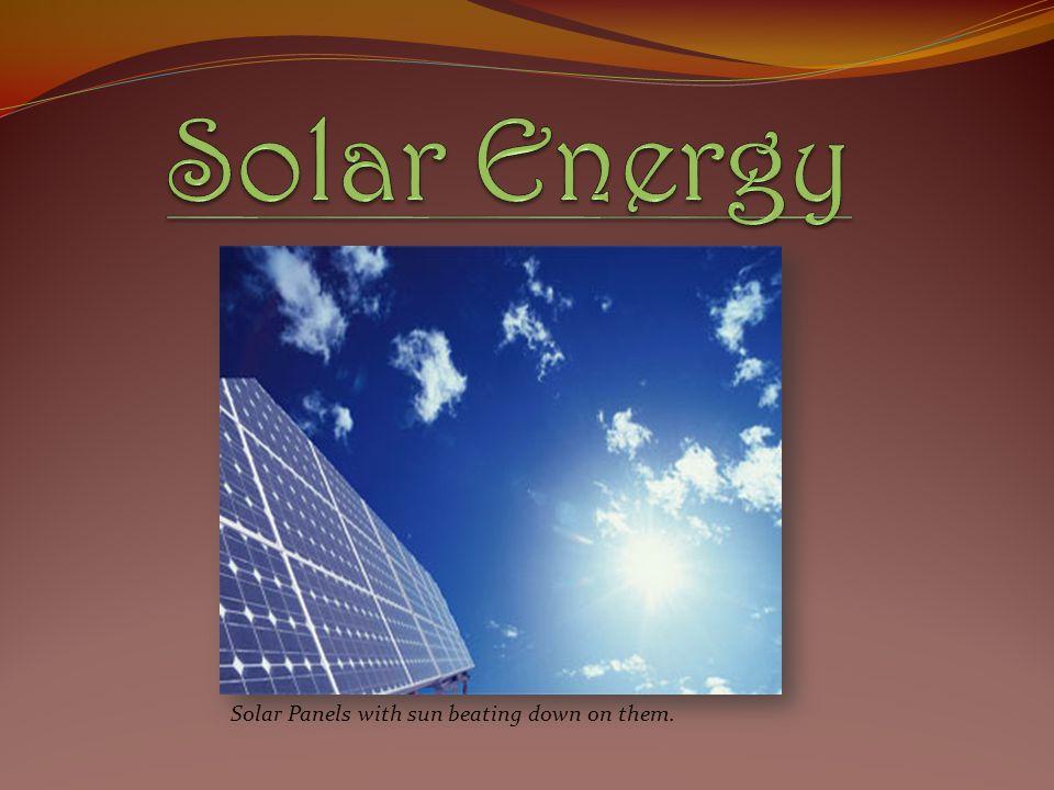 Solar Energy Solar Panels with sun beating down on them.