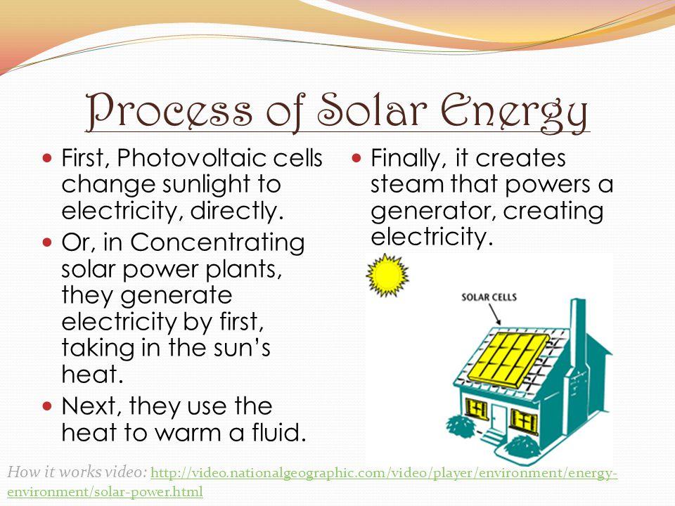 Process of Solar Energy