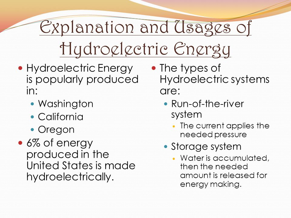 Explanation and Usages of Hydroelectric Energy