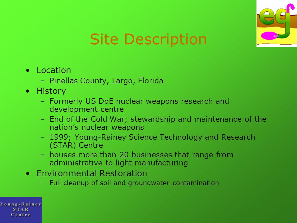 Site Description Location History Environmental Restoration