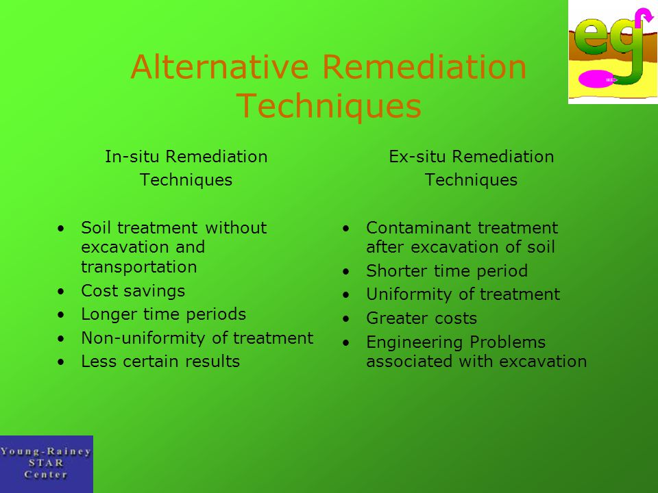 Alternative Remediation Techniques