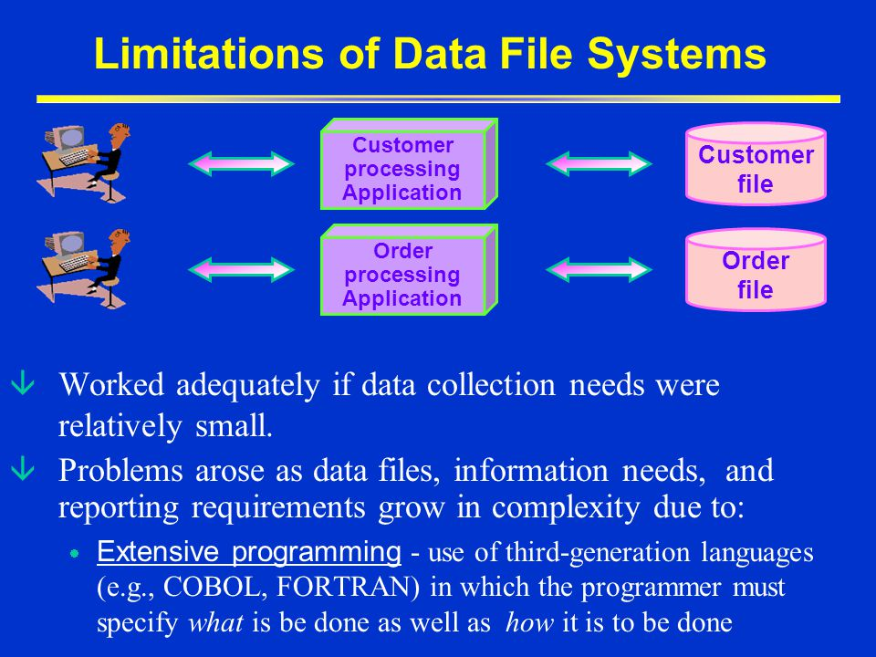 Limitations of Data File Systems