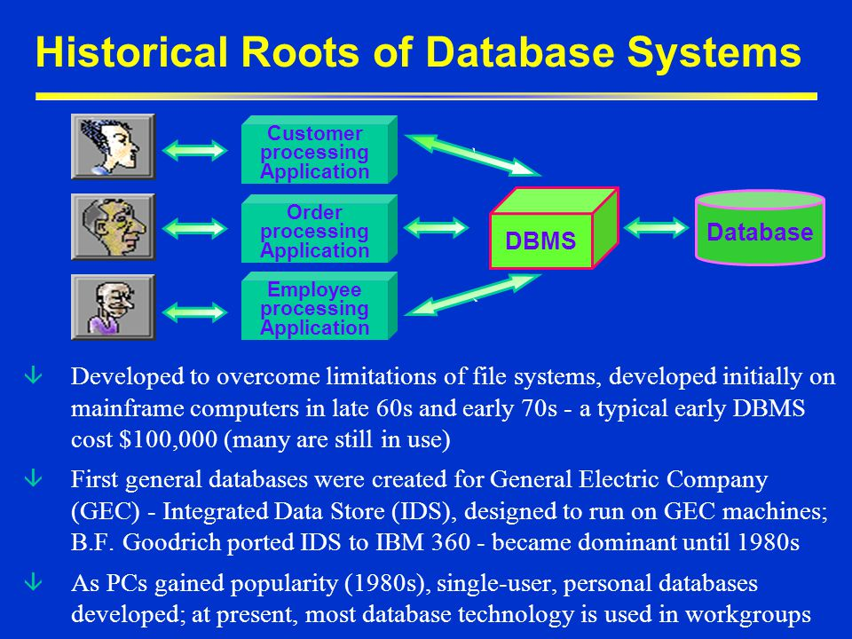 Historical Roots of Database Systems