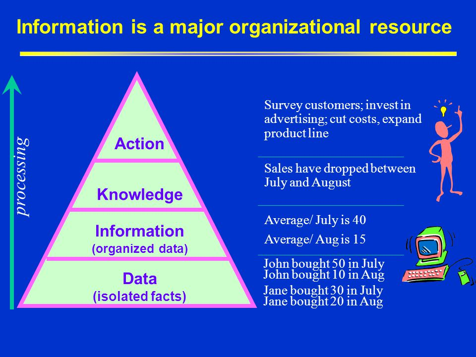 Information is a major organizational resource