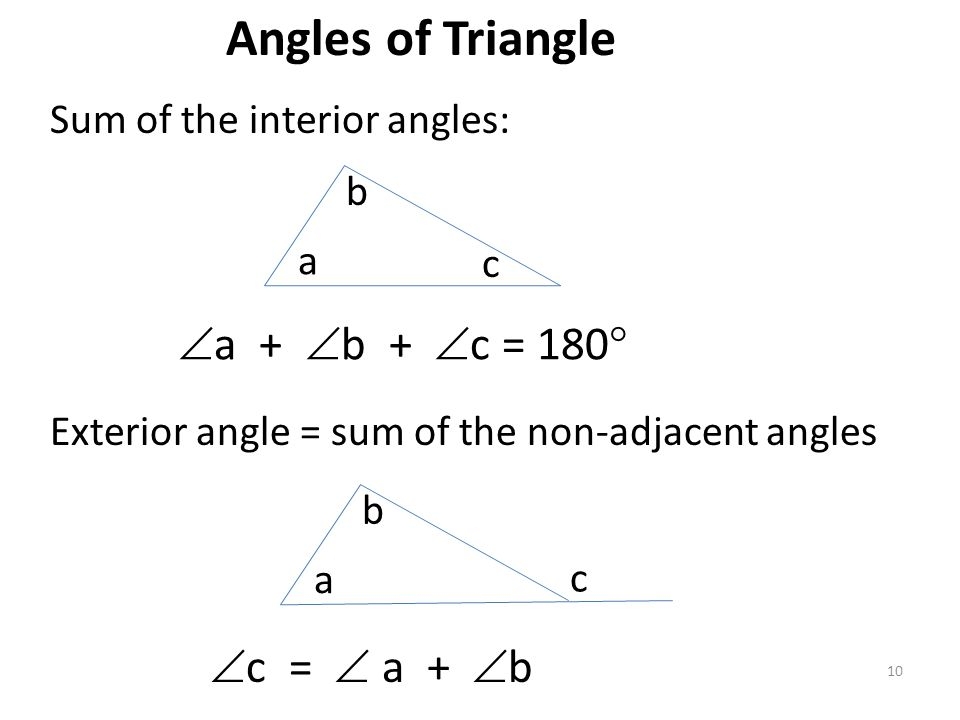 Geometry Review Lines And Angles Triangles Polygons