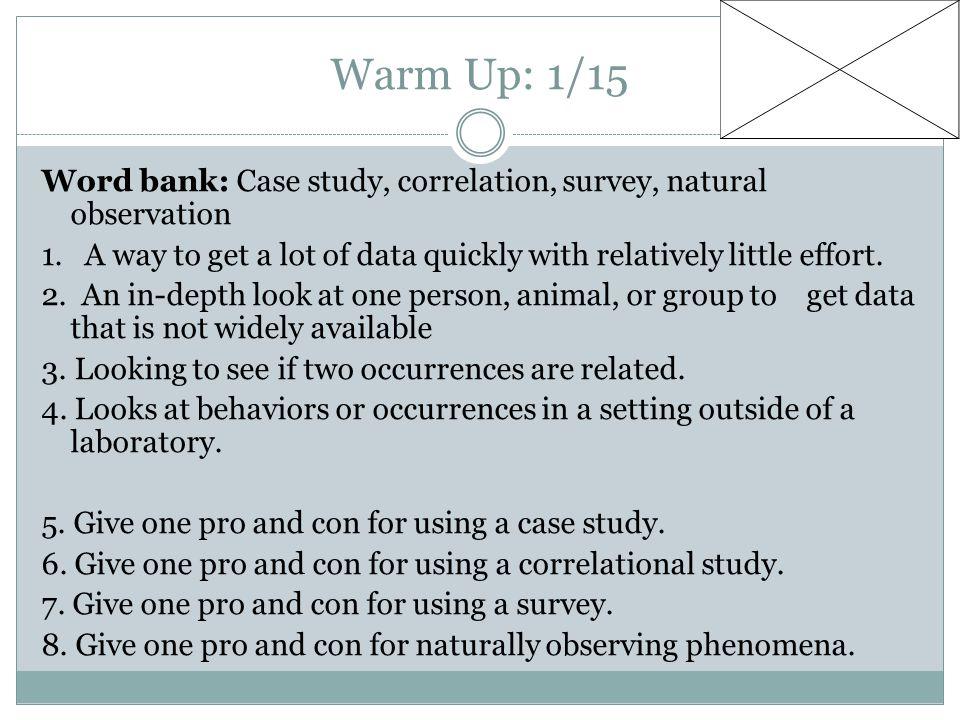 Warm Up: 1/15