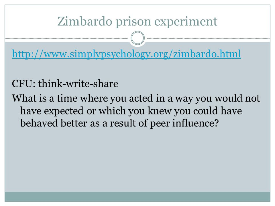 Zimbardo prison experiment