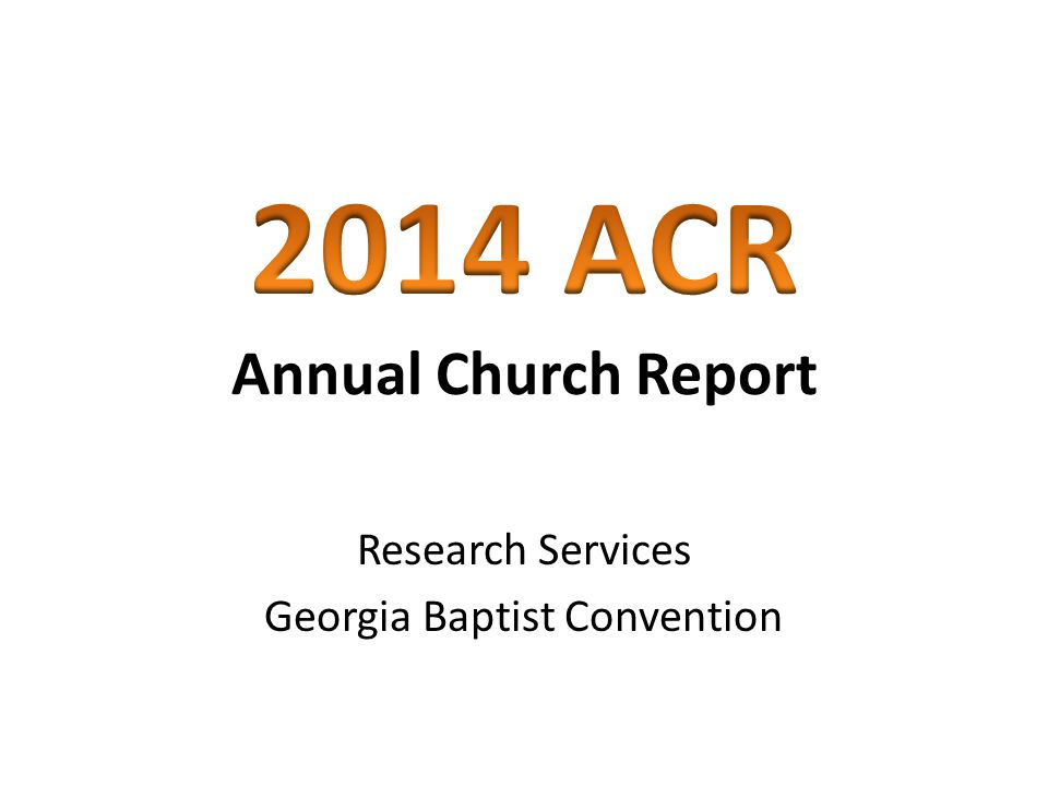 Research Services Georgia Baptist Convention