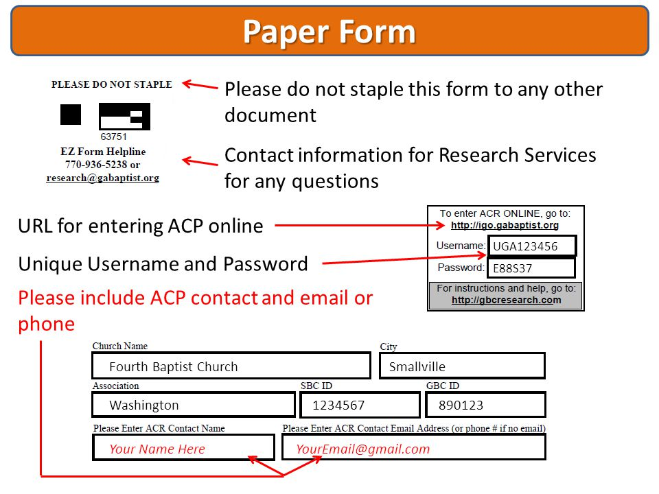 Paper Form Please do not staple this form to any other document