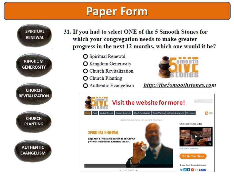 Paper Form Visit the website for more!