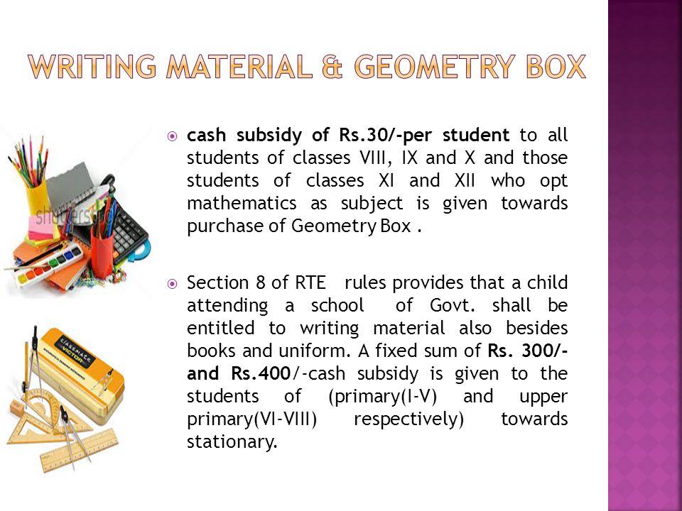 WRITING MATERIAL & GEOMETRY BOX