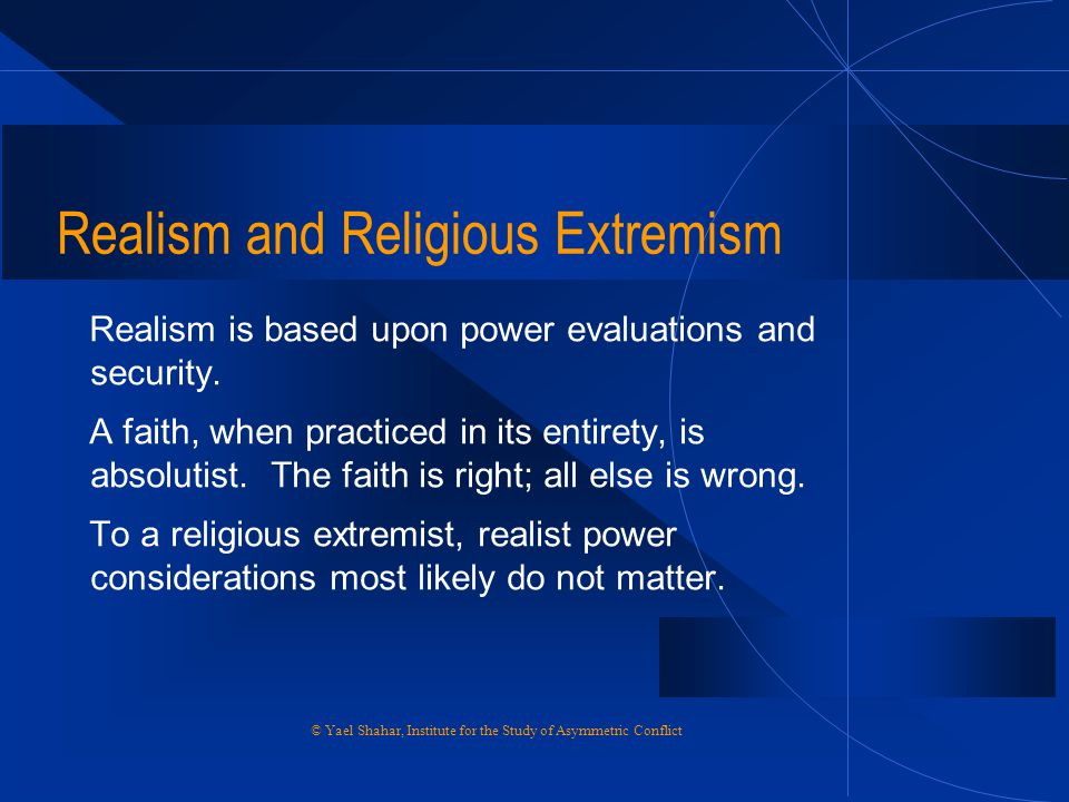 Realism and Religious Extremism