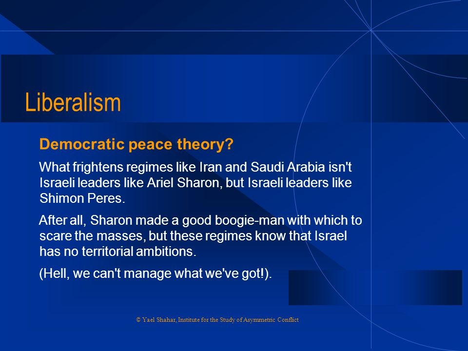 Liberalism Democratic peace theory