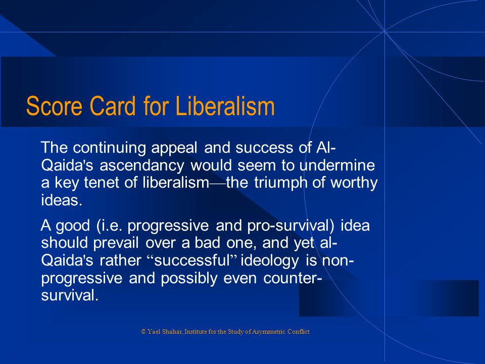 Score Card for Liberalism