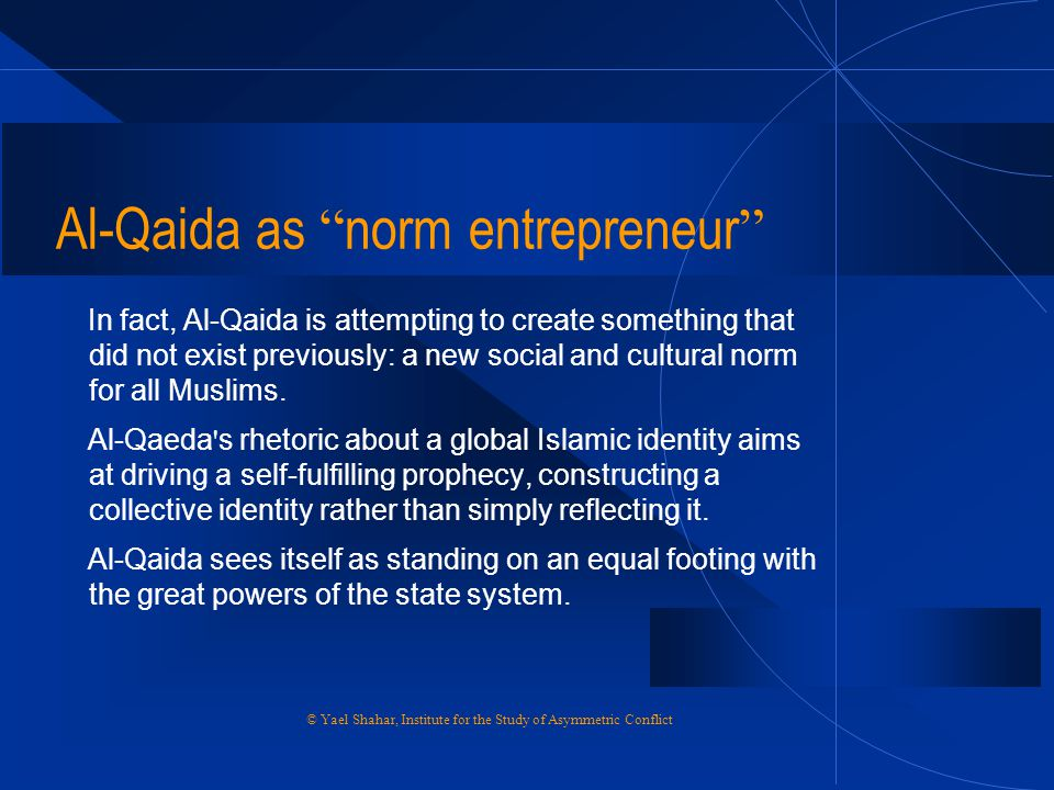Al-Qaida as norm entrepreneur