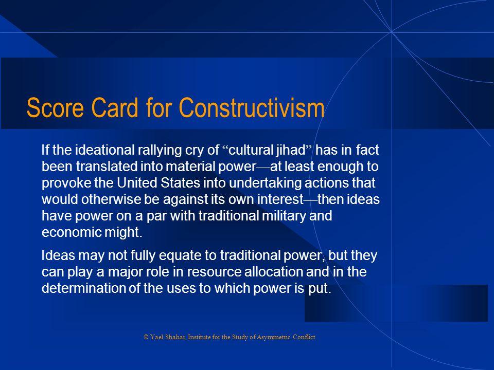 Score Card for Constructivism
